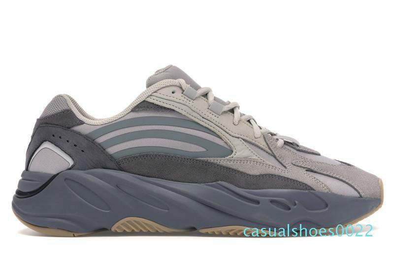 Kanye West 700 Tephra Utility Siyah Dalga Runner 3M Yansıtıcı Erkek Koşu Ayakkabı Otantik Sneakers c24