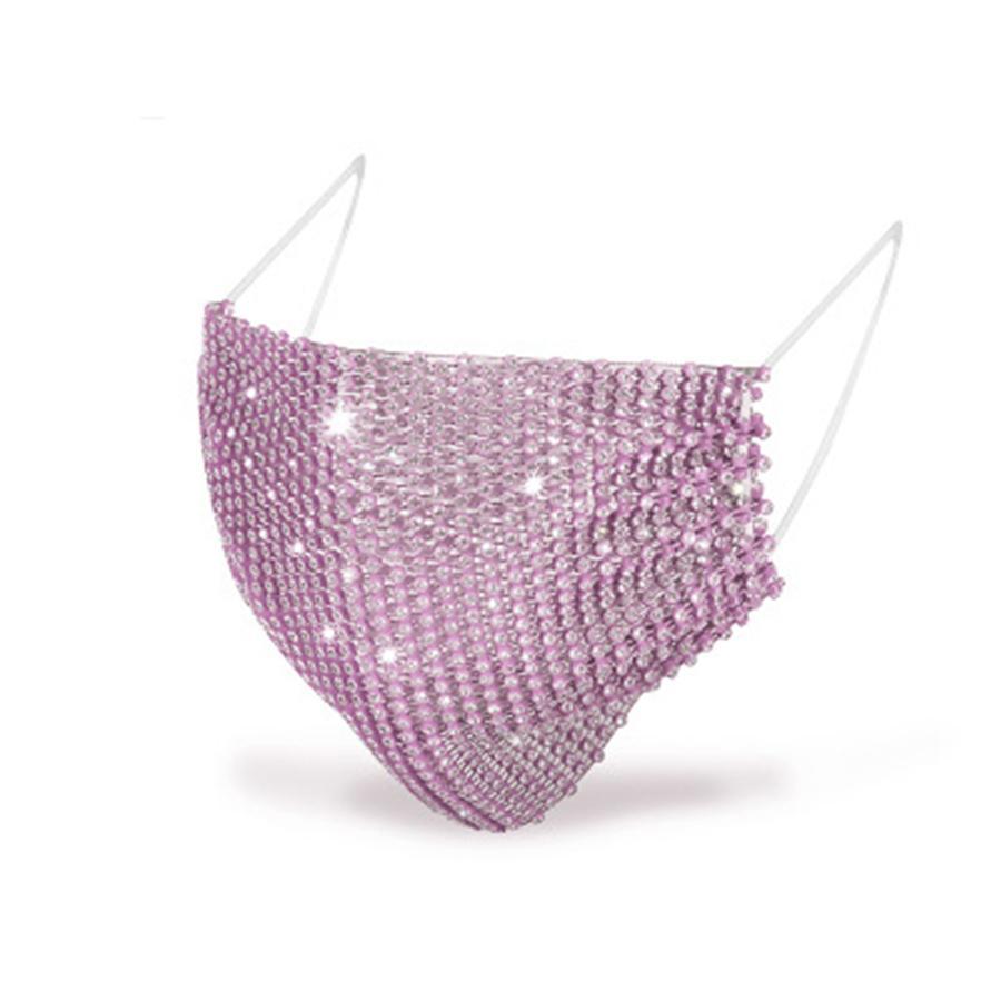 Vendita calda delle nuove donne protezione solare antipolvere perforazione bling mascherine del partito maschere colorate anti-polvere maschera trapano acqua tendenza
