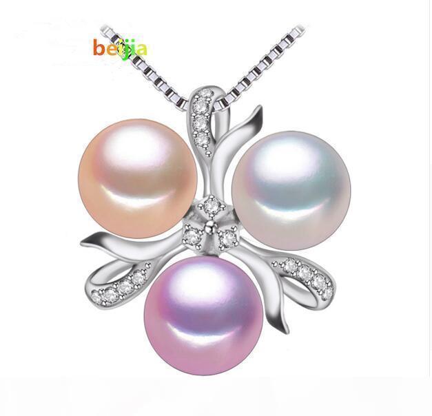 Belas colar de pérola jóias, Bohemia New Branco rosa roxo pérola de jóias pingente de colar charme mulheres pérola