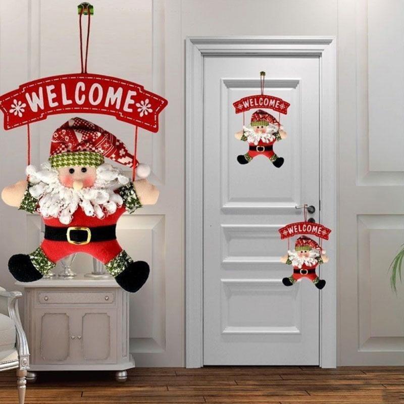 Per la casa di Babbo Natale porta albero di Natale appeso accessori per la decorazione di giorno di Natale Ornamenti
