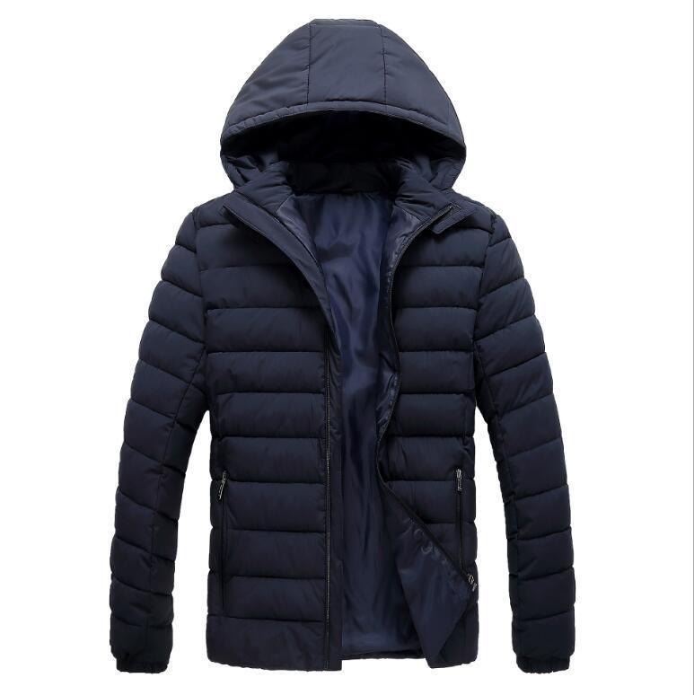 giacca invernale moda casual 2020 nuovi uomini del rivestimento di cotone verso il basso per gli uomini con cappuccio cappotto giacca a vento impermeabile vestiti maschili