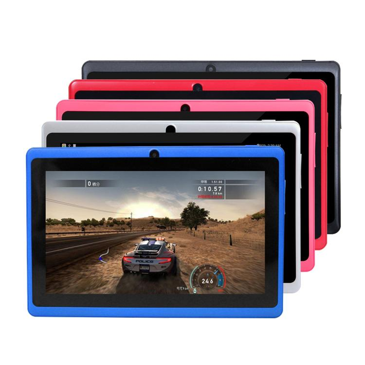 "Q88 Q8 A33 Quad Core children tablet pc 7"" 7 inch Allwinner Android 4.4 Kitkat Capacitive 512MB 4GB Dual camera MID Flashlight"