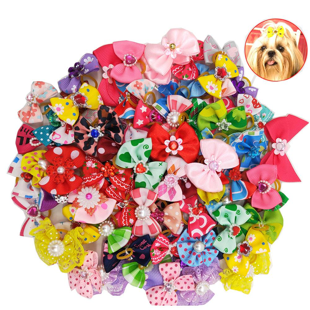 Small Dogs Bows Hair Grooming Puppy Accessories Supplies For Pets Hair Clips Grooming Yorkshire Lovely Pet Hair Clips DLH448