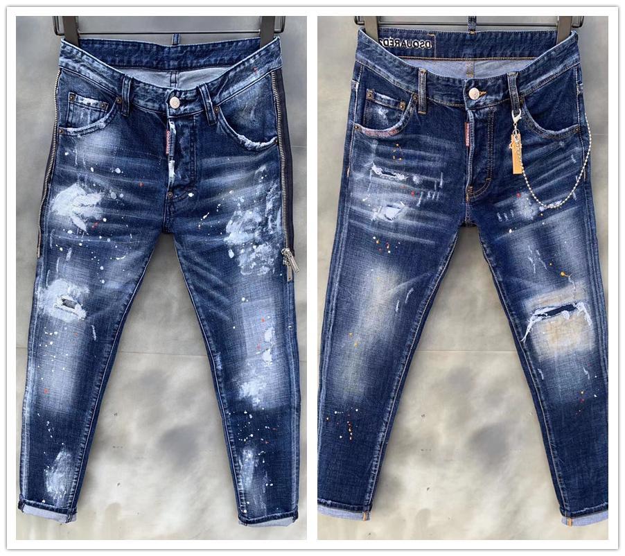 Compre 20ss Envio Libre Del Mens Skinny Jeans Para Hombre Rock Revival Jeans Denim Pernos Prisioneros Cristalinos Tamano De Los Pantalones Pantalones De Los Hombres De 44 54 Nueva Pantaloni Da Uomo