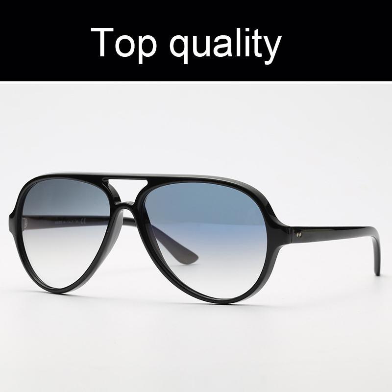 أعلى جودة 4125 القطط 5000 راي نظارات شمس رجل إمرأة ريترو نظارات شمسية 5000 نموذج نايلون عدسات الإطار G15 الأصل الحزم القط التصميم