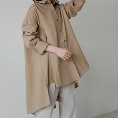 Düzensiz moda gevşek büyük Cloak Coat gömlek ölçüsü bebek gömlek orta boy güneşten gelen gündelik öğrenci pelerin hırka ceket hv4Kn