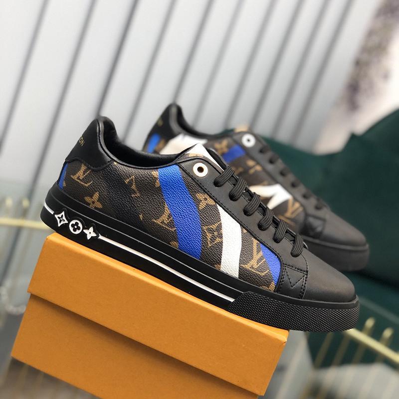 2021j Nueva edición limitada de lujo para hombre del cuero de las zapatillas de deporte Impreso Todo hombre -Match zapatos de moda casual para hombre Zapatos de banquetes Tamaño: 38 -451