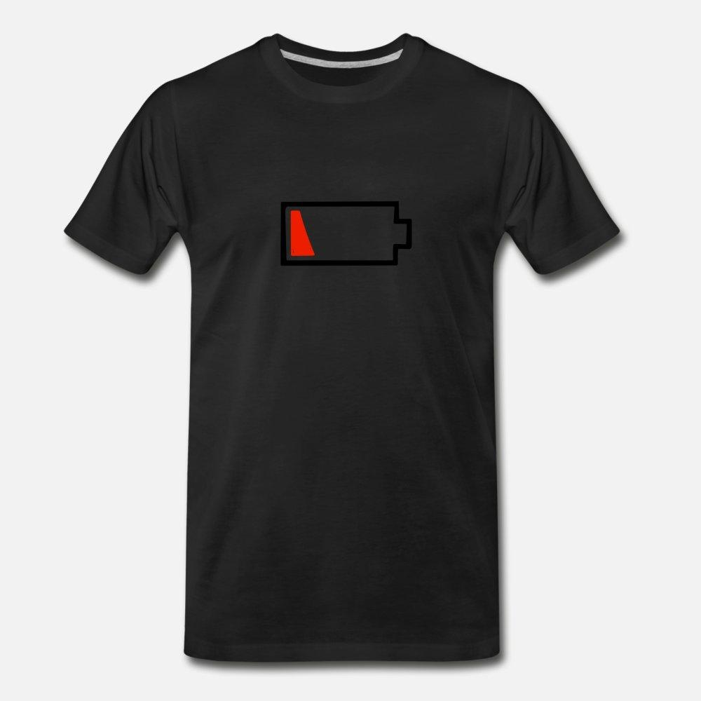 Battery Dying T Shirt Men Fitness Tee Shirt Size S-3xl Pattern Fitness Humor Summer Cool