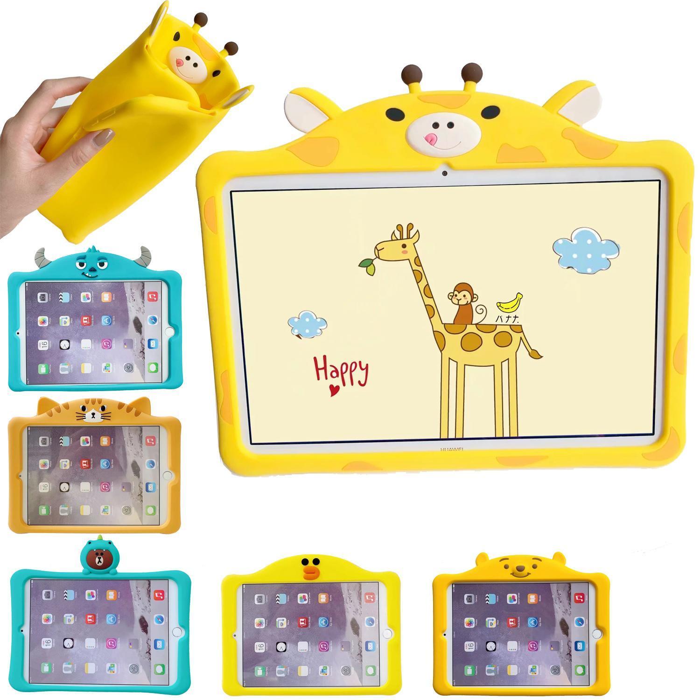 cgjxs3d Cartoon silicone stand enfants enfants Pour Apple Ipad2 Pro 11 2020 Mini 5 2019 9 10 .7 .2 Smart Case Cover