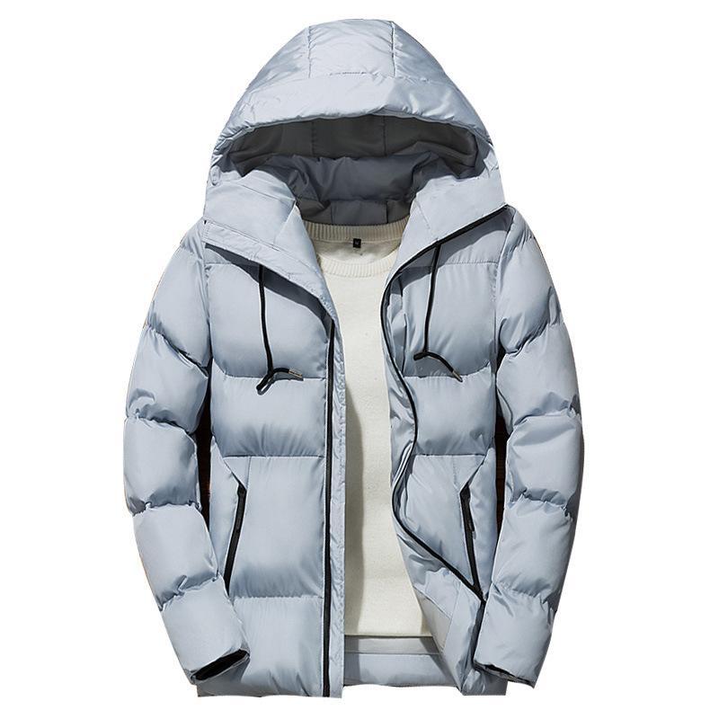 남자 다운 파카 겨울 남성 파카 재킷 2021 솔리드 컬러 간단한 고품질 캐주얼 따뜻한 두꺼운 후드 남성