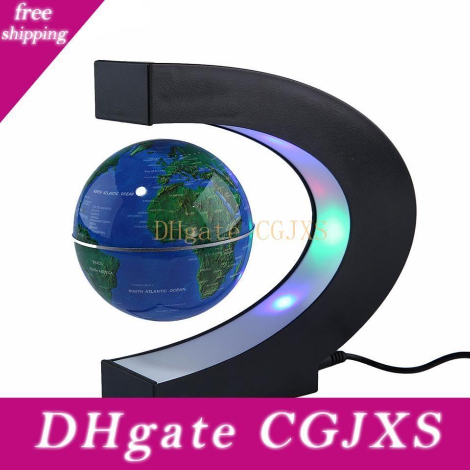 Presentes de aniversário Luz Mapa do Mundo Led levitação magnética flutuante Forma Globo Início eletrônico Antigravity C Lâmpada novidade Bola