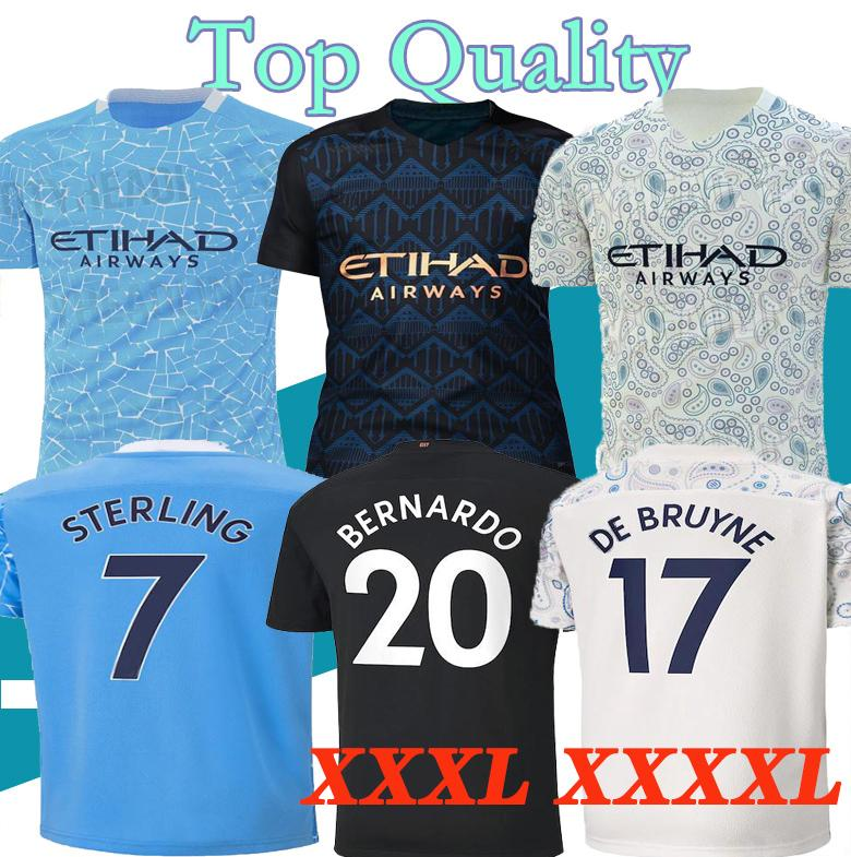XXXL 4XL 20 21 2020 2021 del jersey de fútbol de la ciudad JESÚS De Bruyne KUN AGUERO camiseta de fútbol camisa Camiseta MENDY SILVA HOMBRE uniformes Manchester