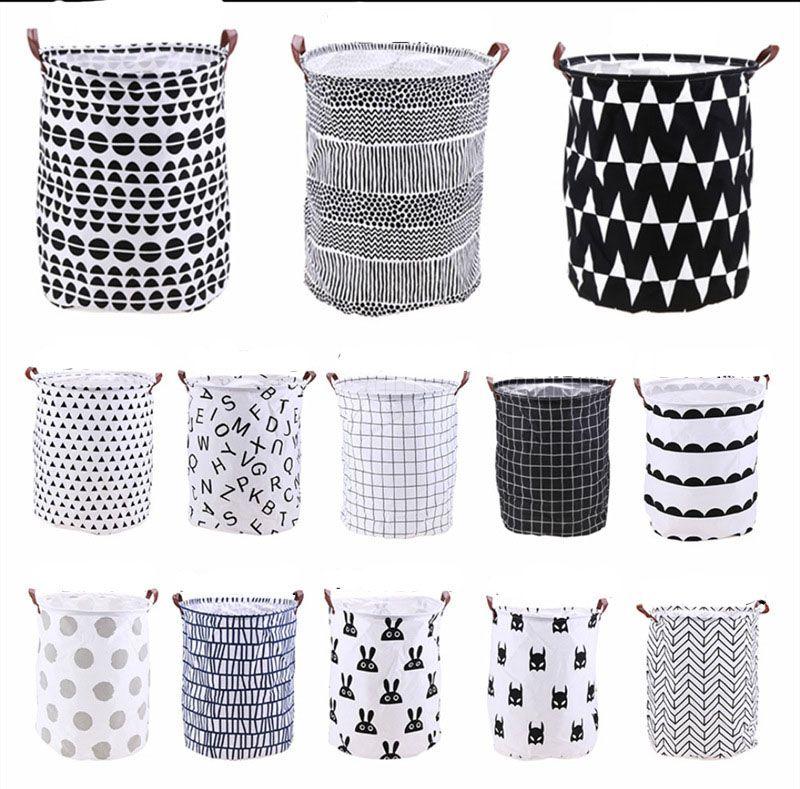 INS lattice letter printing Storage Bags cartoon Handbags Kids Toys,Dirty clothes basket 40*50cm C3410