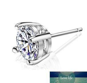 Big Swiss Diamond Boucles d'oreilles style vintage 925 bijoux en argent sterling pour les femmes à quatre griffes de mode diamant Boucles d'oreilles Livraison gratuite