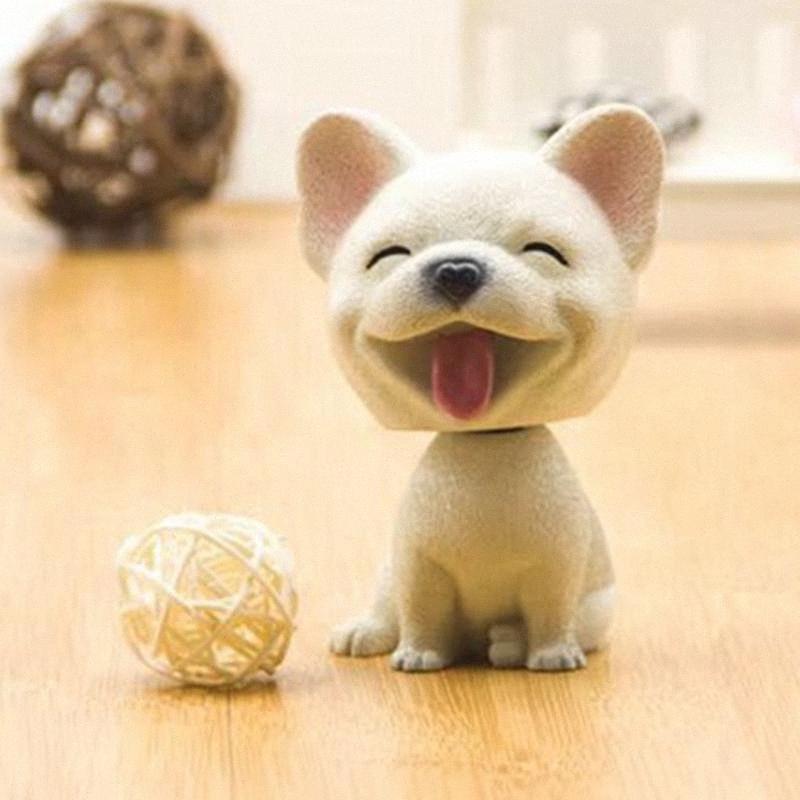 Auto-Verzierungen Bobblehead Kopf schütteln Hund Harz Niedlich Nicken Dekoration Geschenk Interieur Haushaltzimmereinrichtung Zubehör für Auto Accessori vYlq #
