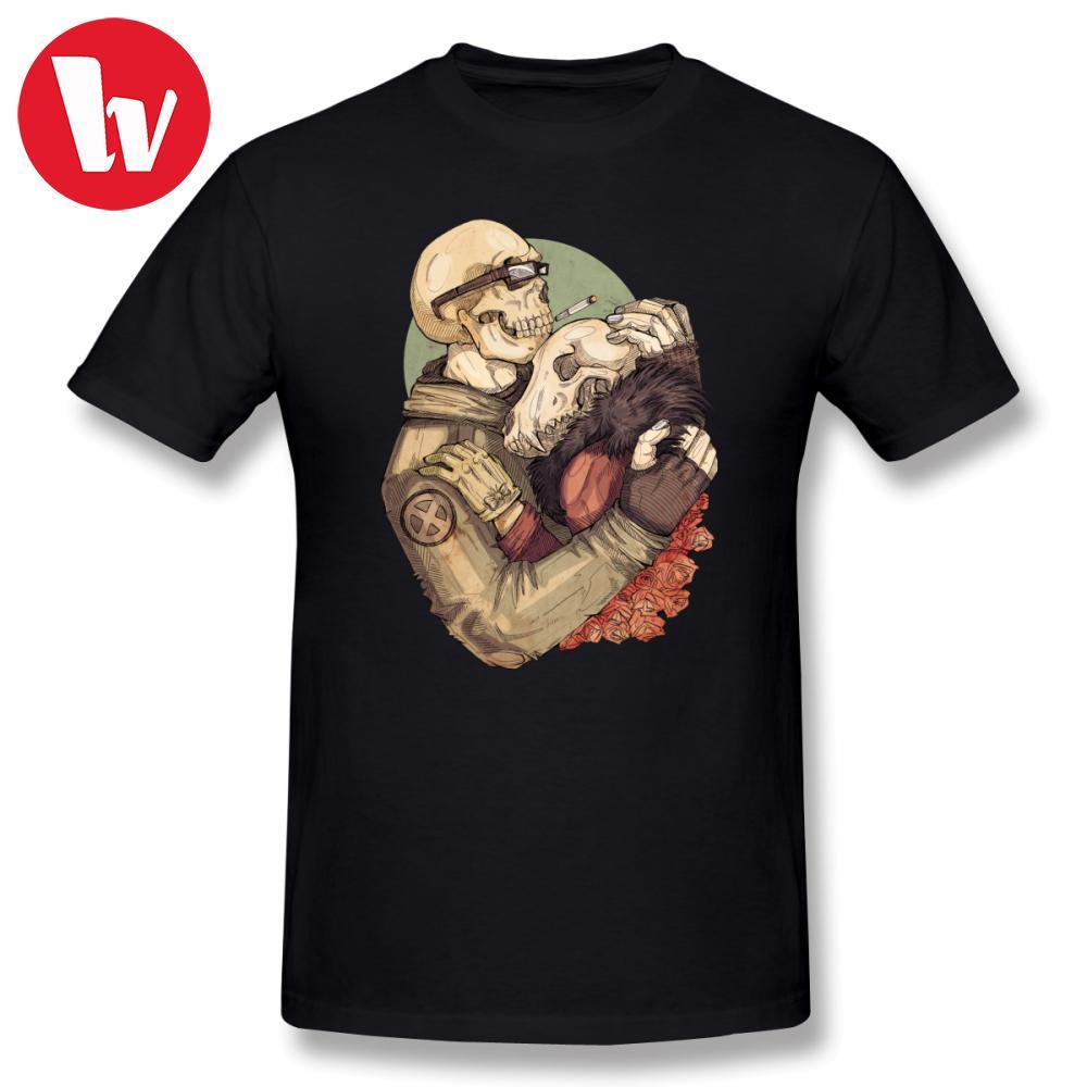 Weird Любовь T-Shirt Мужчины мультфильм печати хлопок Футболка мужская лето с коротким рукавом майка Basic Футболки Хлопок Повседневный футболки