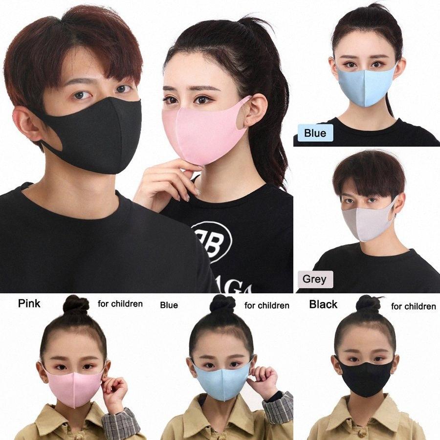 Ice Seta antipolvere Bocca Maschera riutilizzabile lavabile della maschera di prova per adulti bambini Comodo Anti Inquinamento Shield vento Bocca copertina LJJO7753 x6q0 #