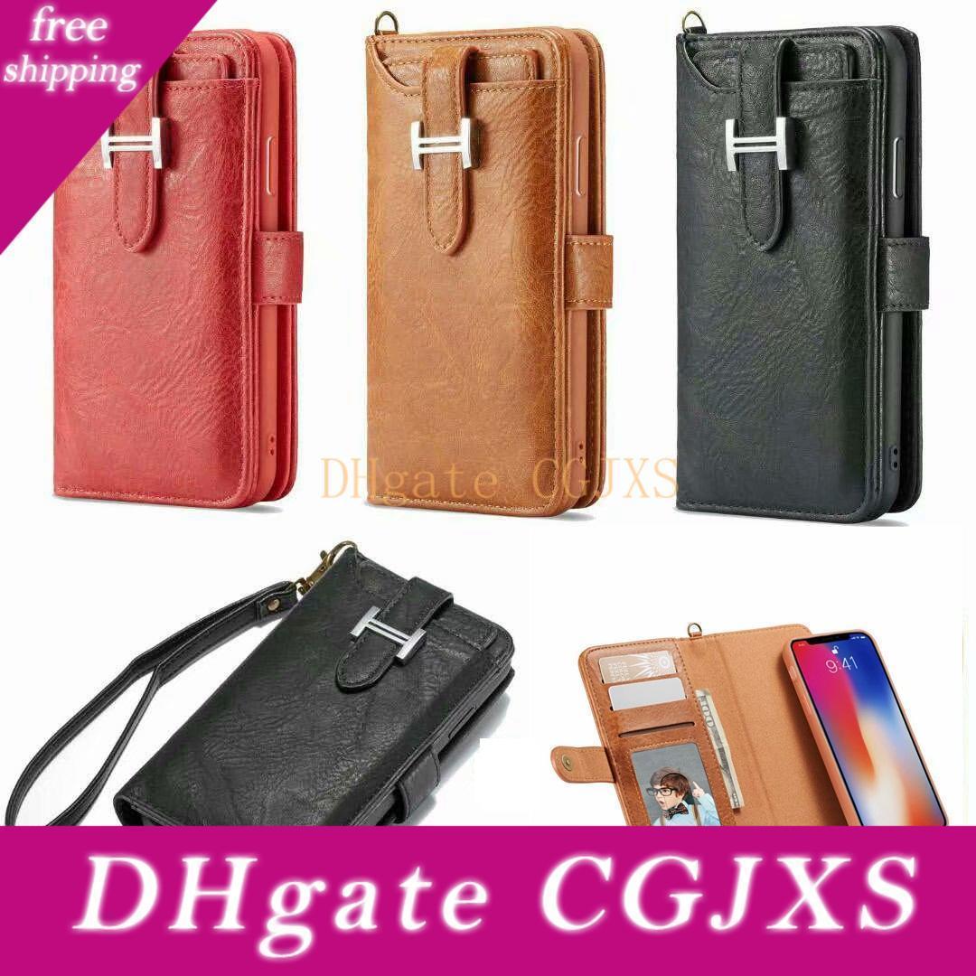 3 В 1 Магнит Съемная Съемный кожаный бумажник чехол для Iphone 11 11 Pro 11 Pro Max 20pc / Lot