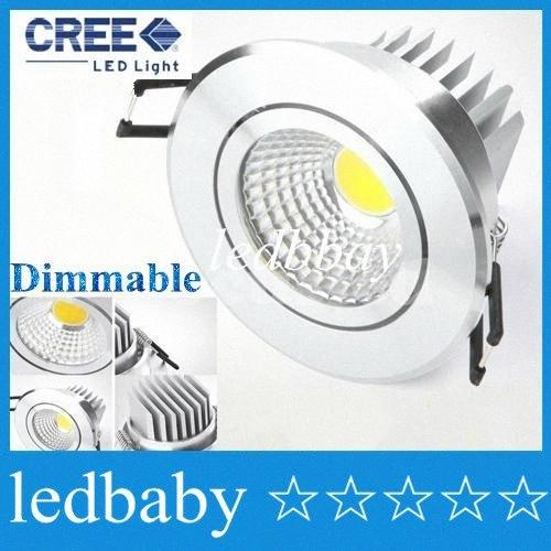 Prata Shell Led Cob Downlight Dimmable 9W 600lm Refletor LED lâmpada do teto 110 240v Natural White 4000k 120 Angle + LED driver UL liOQ #