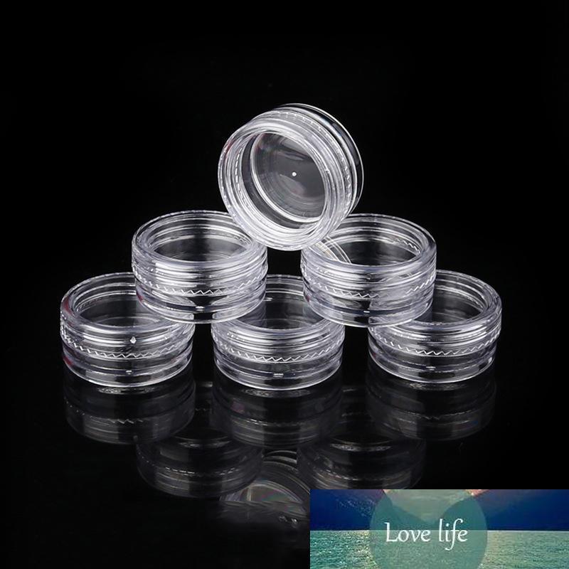 Vernis à ongles en poudre plastique PET Jar Nu cosmétique Jars crème bouteille en plastique transparent 2.5G
