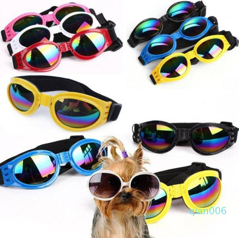 Dog Protection Goggles UV Sunglasses Foldable Pet Dog Glasses Medium Large Dog Pet Glasses Pet Eyewear Waterproof 6 Colors Choose DHL
