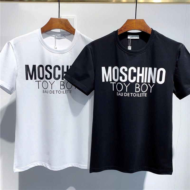 Черный Белый Мода лето Мужчины футболки лето хлопок Тис Скейтборд Hip Hop Streetwear T Рубашки top322