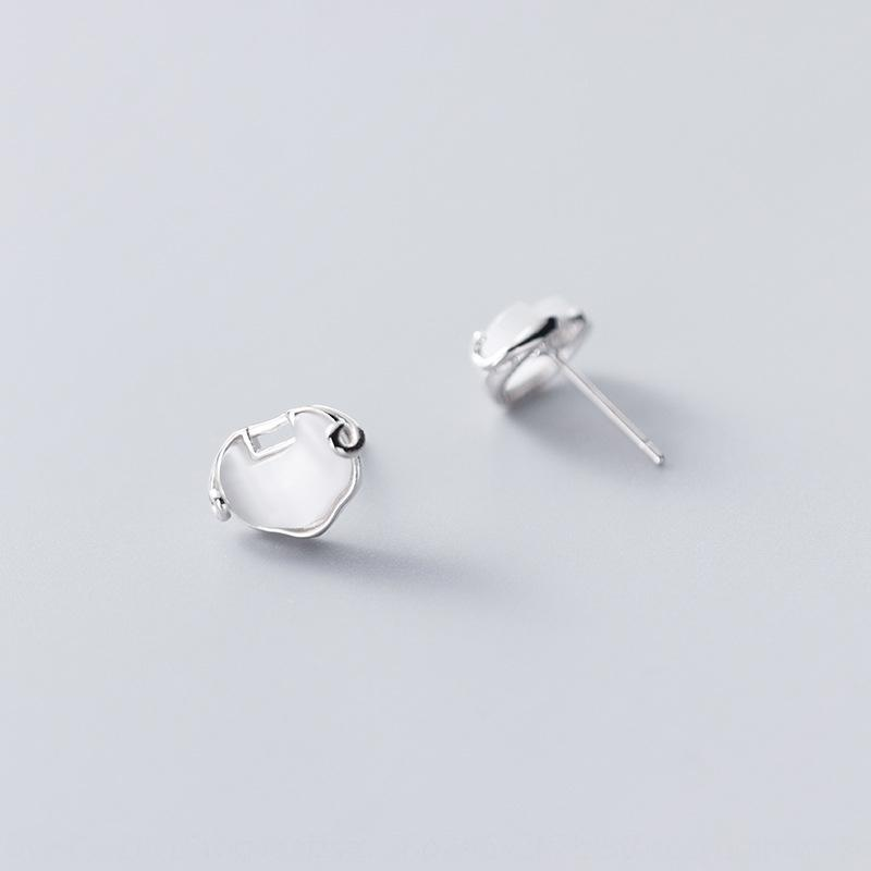oPQOB Лох S925 шпильки и серьги женщин уха серьги серебро Корейский стиль элегантный синтетический опал долгую жизнь замок элегантные маленькие серьги Ijcht