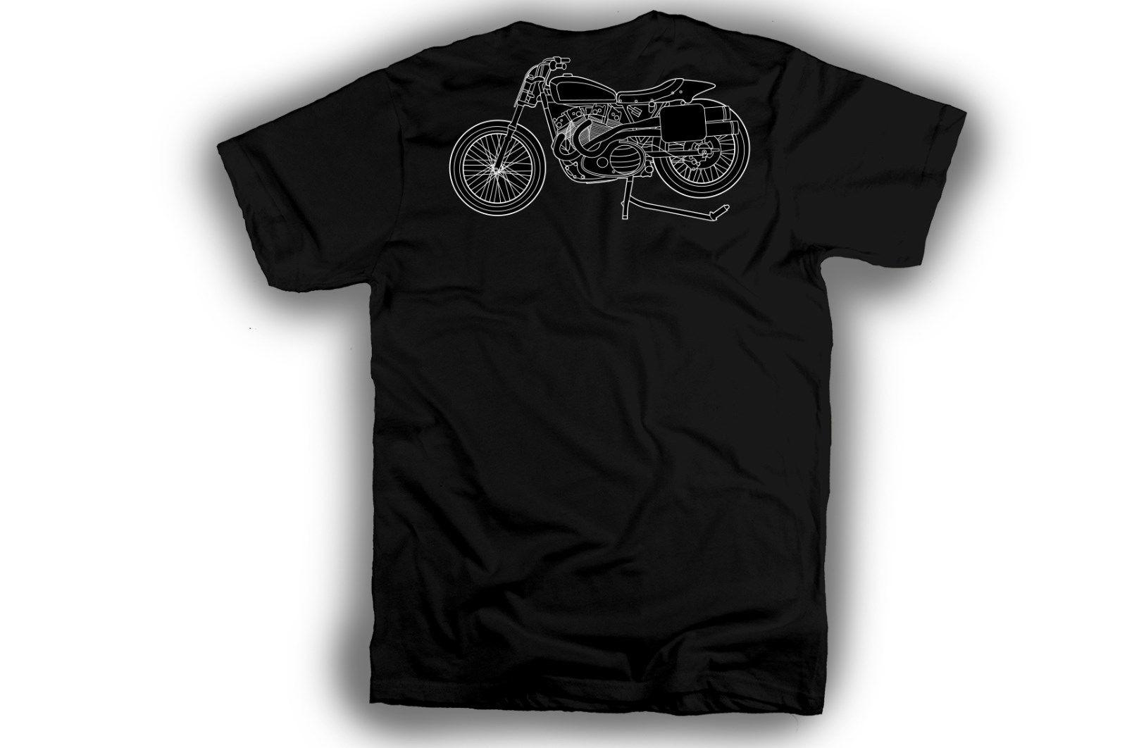 2020 Yeni Artı boyutu Mens Homme Yaz Kısa Kollu Klasik Amerikan Motosiklet Hayranları Erkekler için T Gömlek Soğuk Xr750