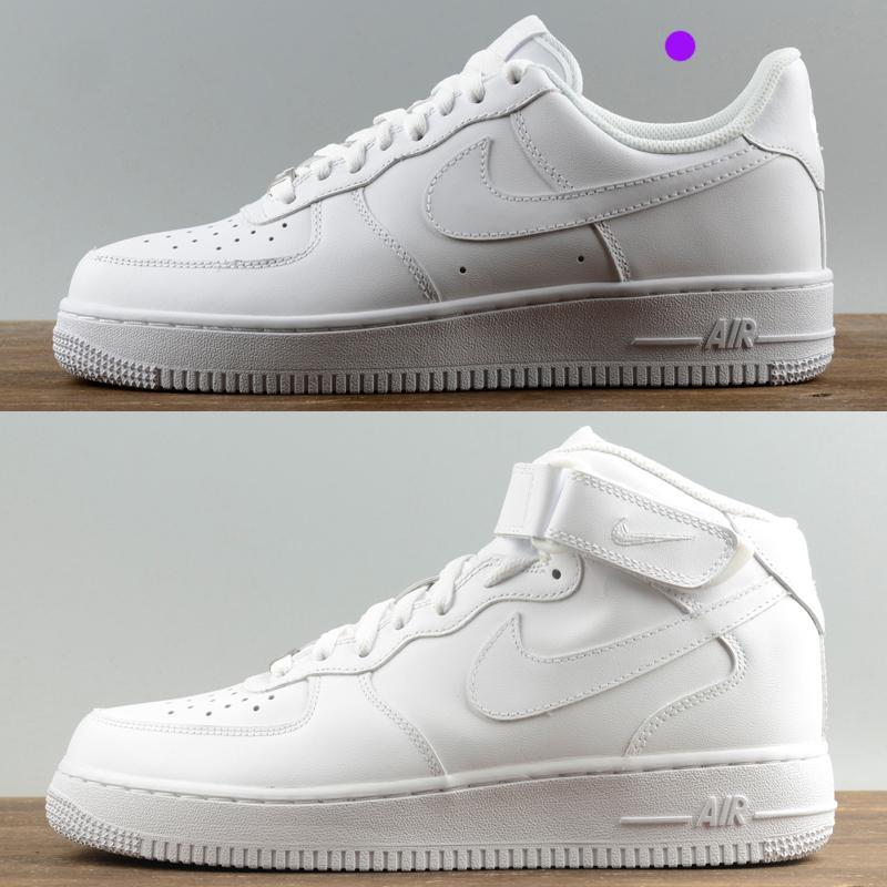 Zapatillas de deporte superiores de diseño para mujeres hombres ce 1 bajo una alta chaussures 07 AF1 formadores de moda fuerzas de skate zapatos baratos