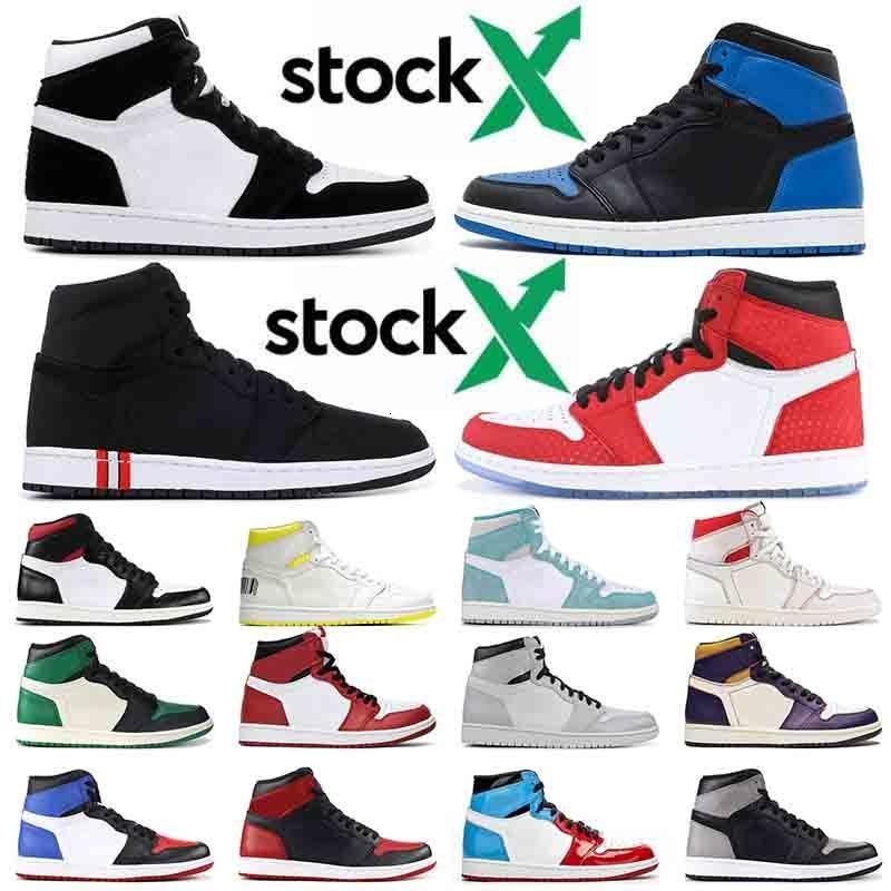1 2020 OG Erkekler Kadın 1s Basketbol Ayakkabı Royal Blue Crimson Ton Korkusuz Altın Top 3 Sneakers Eğitmenler Bred Banned