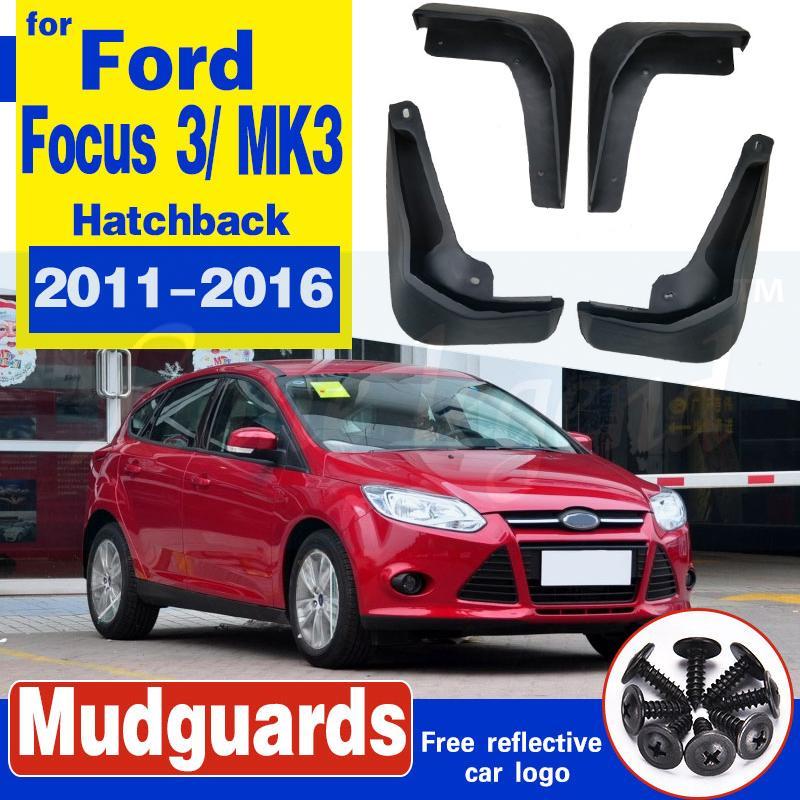 Kotflügelverbreiterungen für Ford Focus 3 MK3 Fließheck 2011-2016 Auto Schlamm flattert Spritzen-Schutz Schmutzfänger Zubehör