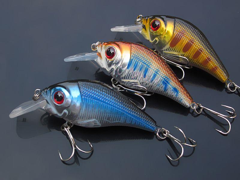 50pcs Fishing Lure Bait Hook Crankbait 10.2g / 7,5 centimetri