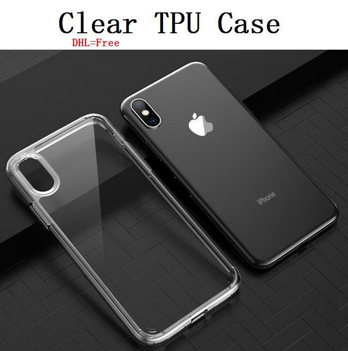 Anti-поцарапайте TPU прозрачный чехол iPhone 7/8 Plus XR XS 11 Pro MAX Защитный PC Phone Cover