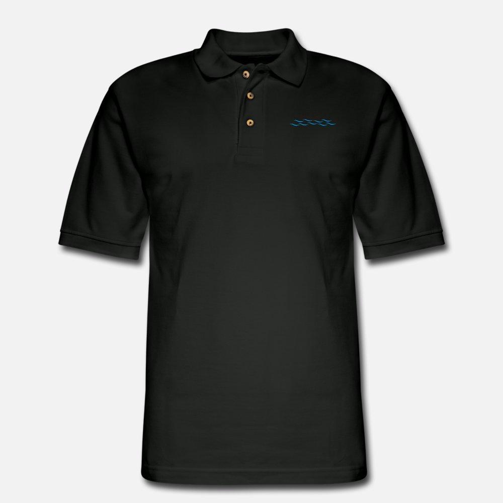 Água camisa t homens t-shirt projeta em torno do pescoço Lazer Luz Solar Casual camisa legal Primavera Outono