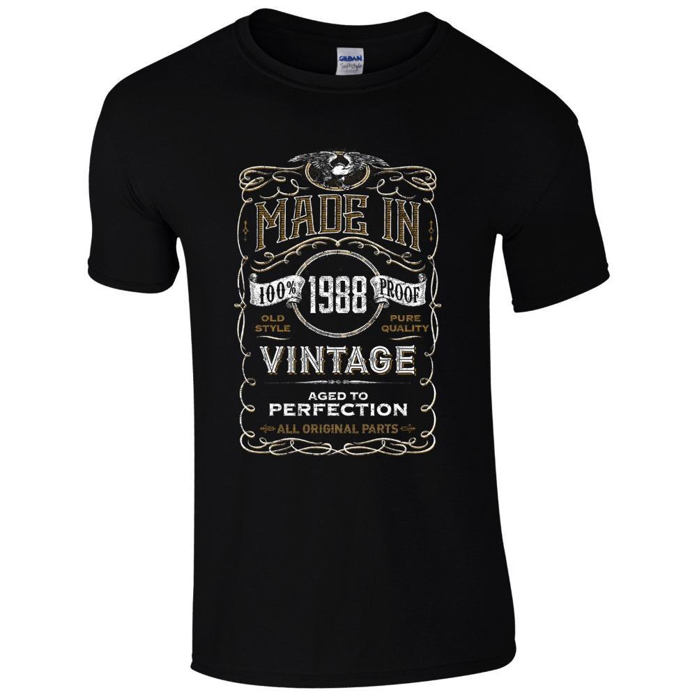 shirt dos homens novos T Moda Feito em 1988 t-shirt Nascido em 30 de Ano Idade presente de aniversário engraçado Vintage Mens presente T-shirt