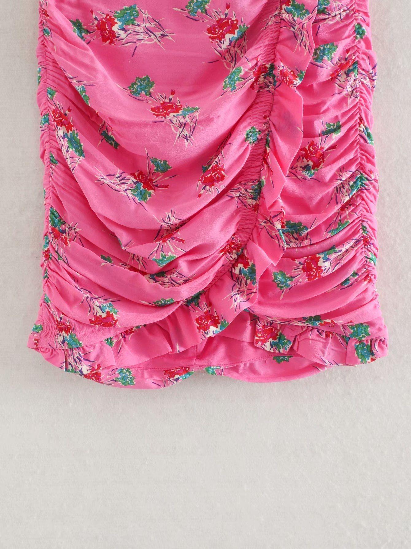 2pmxt 57xTR 2020 decorativo donne della molla laminata a pieghe plissettate lamellare mini Minigonna stampata delle donne primavera decorativo 2020 stampati