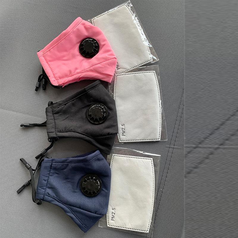 Vana Maskeler Kalın 2 Eqrz Nefes Mavi Yeniden kullanılabilir Yüz Maskesi Anti-toz Yıkanabilir Pembe PM2.5