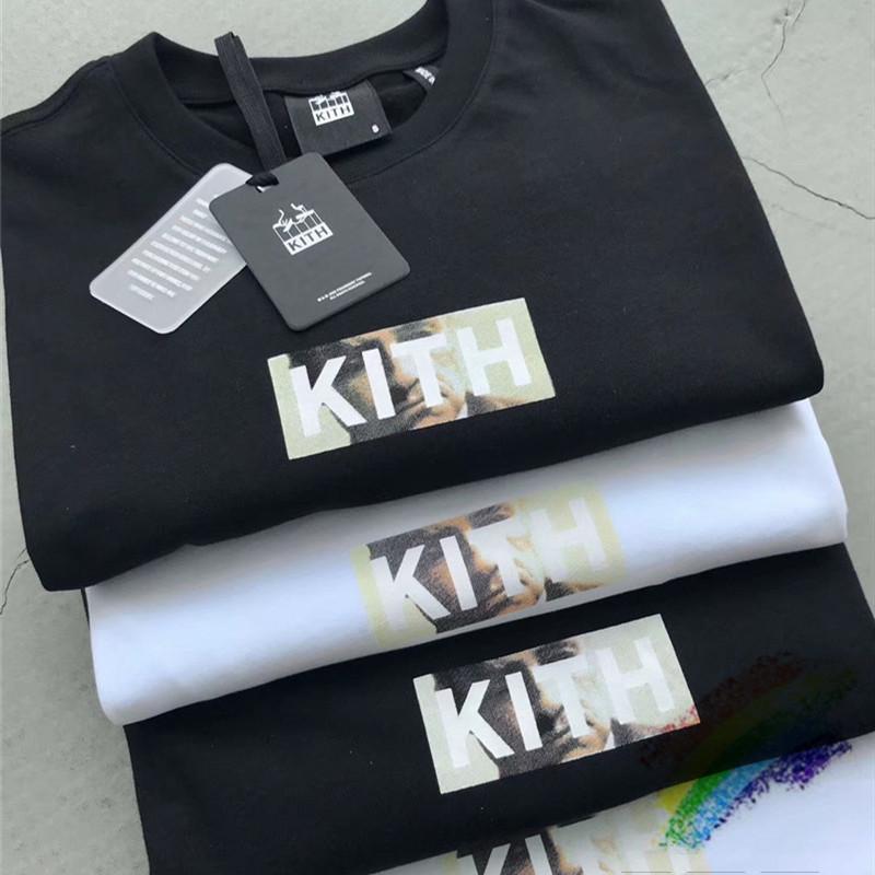 shirt novo KITH Godfather T Homens Mulheres 1: 1 de alta qualidade Top Tees Hip-Hop Skate KITH t-shirt T200420