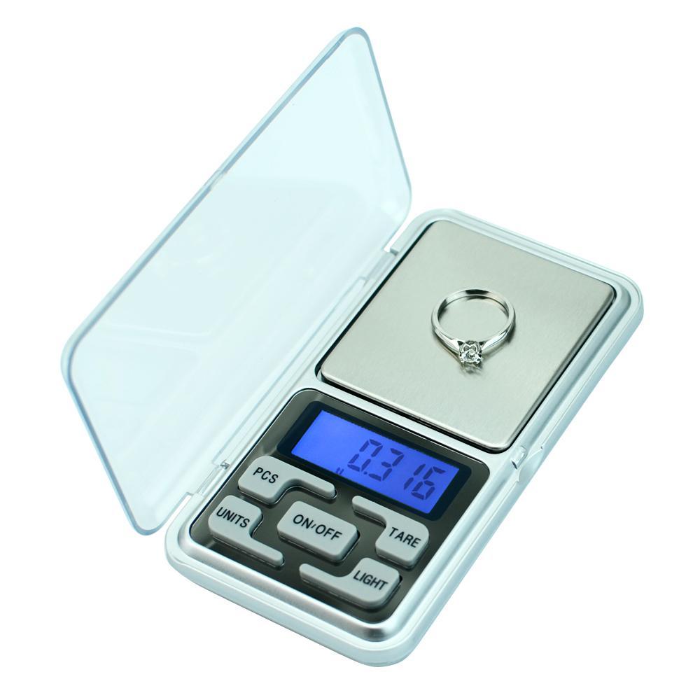 Präzisionswaage 500g / 300g / 200g Mini-Tasche digitale Gewichtsbalance für Schmuck Gold-Diamant-Herb Gram Elektronische Waagen