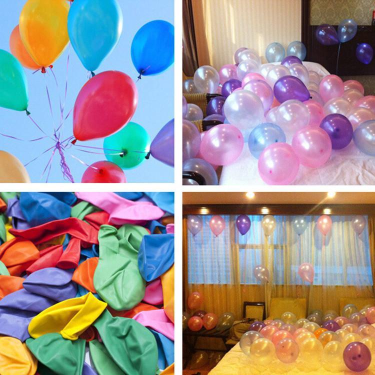 1,5 g 10 pouces épaissies nacrés latex ballon Ballons d'anniversaire assortis Couleurs Ballon Latex enfants jouet d'enfant Balles Air T9I00168