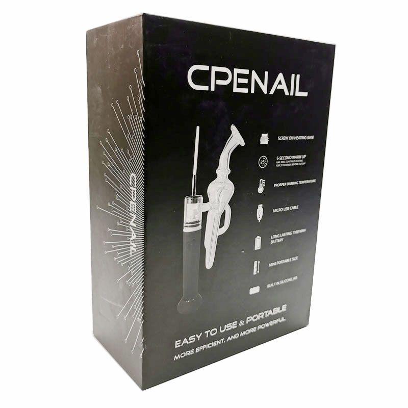 100% CPENAIL ORIGINAL DAB KITS 1100mAh Cuarzo H Nail Dab Rig GR2 TI 3Type Bobinas Vaporizador de cera Vaporizador Bubbler Bonificador de vidrio eléctrico Kit