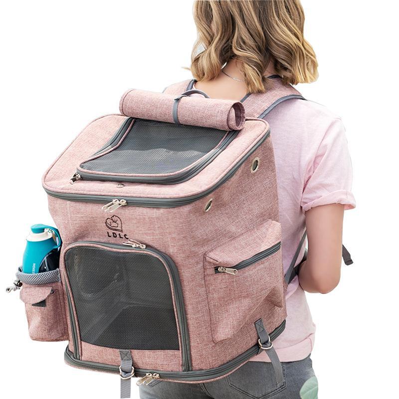 Дверные пакеты-носители маленькие путешествия Pet Carrier отверстия собаки рюкзак сумка кошек и кошка складной двойной дышащий для Wlyang Oribn