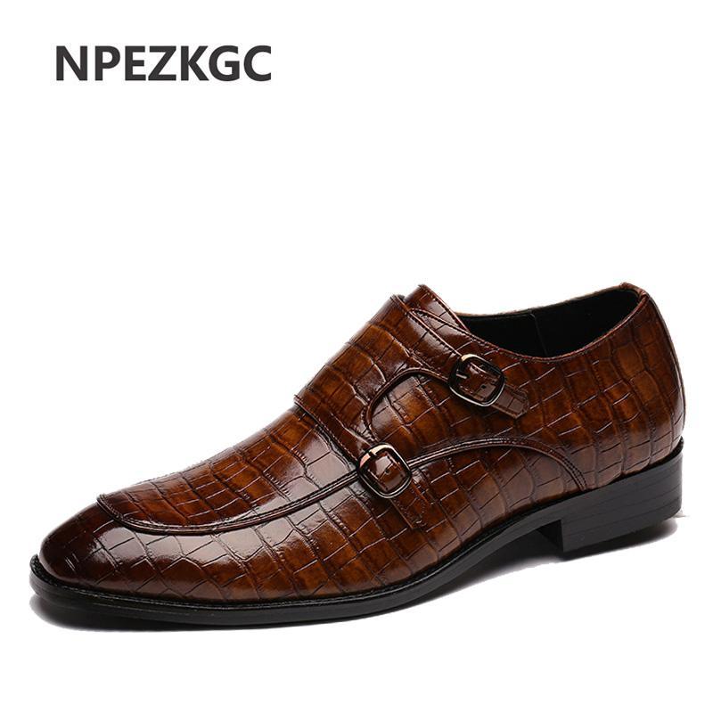 드레스 신발 고품질 클래식 가죽 남성 브로그 레이스 업 Bullock 비즈니스 옥스포드 남성 정식