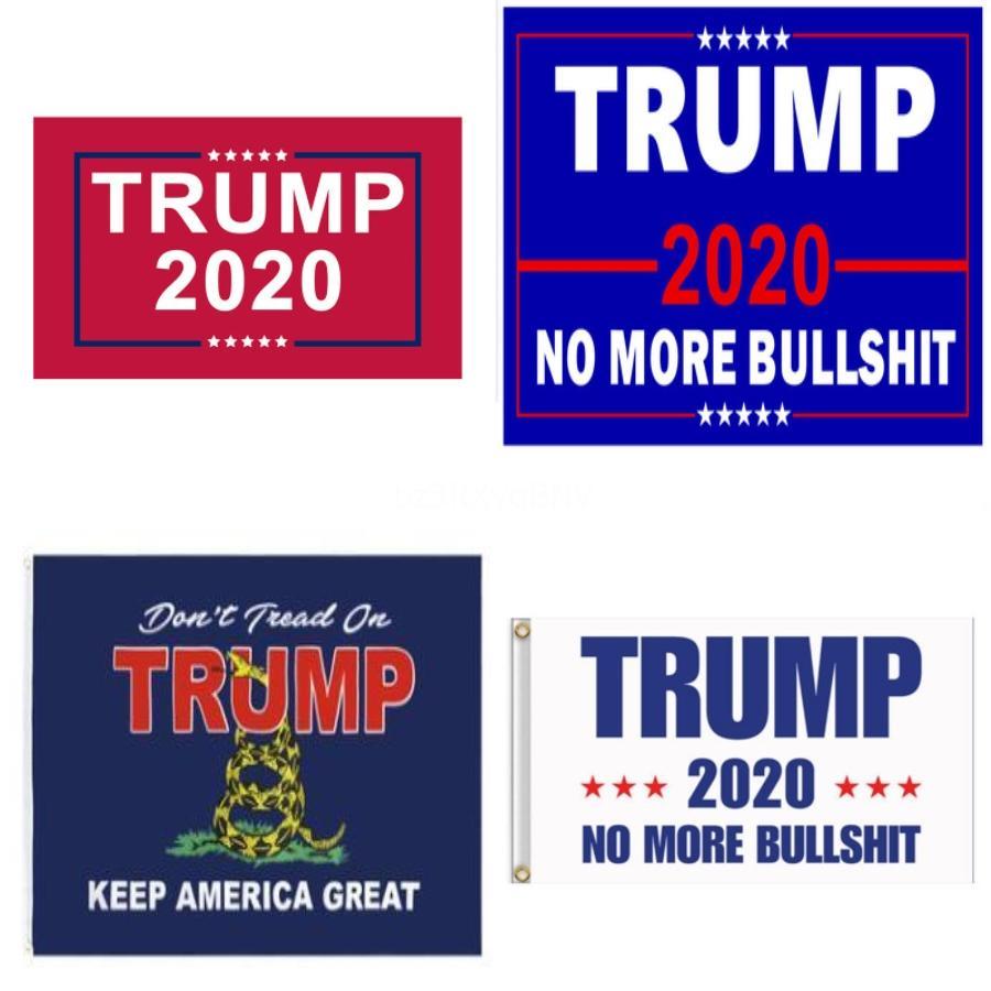 6Styles 45 * 30cm Iden Bayrak 2020 Tut Amerika Büyük Yine Abd Başkanı Seçim Baskılı Bayrak Parti Dekoru Anners Ffa4047-4 # 540 # 226