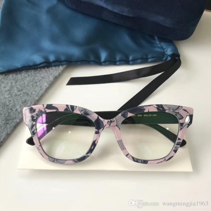 Luxus - Brillenrahmen Rahmen Linse Männer Brillen Designer Neue Marke Designer Brillen 0060 Rahmen Klar frauen oculos brille bR kjkrh