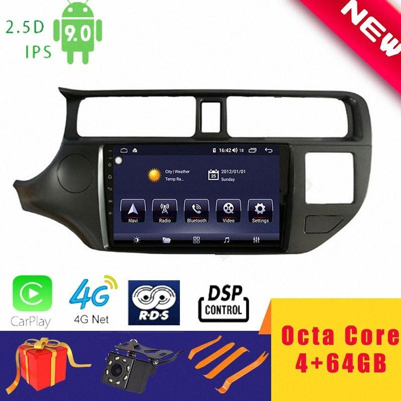 """9"""" Android 9.0 Stereo Car Multimedia Player per KIA Rio Rio 2011 ~ 2014 Navigation unità principale Octa core DSP 2.5D + IPS 4G Carplay dvd KMIT #"""