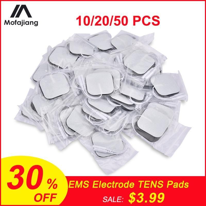 5 * 5cm / 5 * 9 cm EMS electrodos de desfibrilación nervio estimulador muscular del gel de silicona electrodos TENS Digital TENS acupuntura fisioterapia Pads