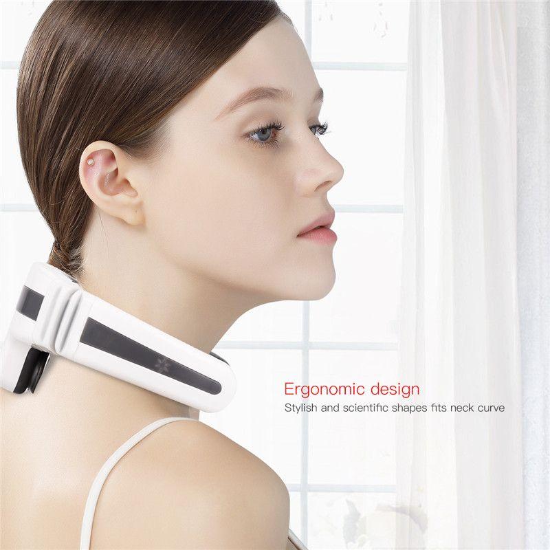 Wireless 3D Pulse massaggio del collo calda elettrica Compress cervicale spalla Dolore Strumento di massaggio con pad elettronici per la corsa
