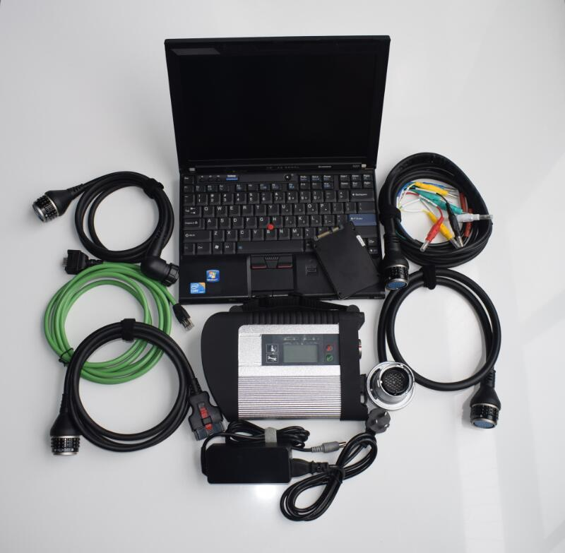 super mb star c4 sd connect diagnostic-tool with newest software V2020.12 ssd with x201t laptop touch screen ready to use