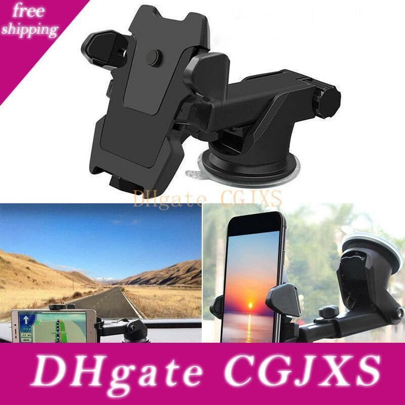 360 °Rotations Adjustable Car Holder Sucker Support Windshield Mount Bracket For Less Than 6 Inch Mobile Cell Smart Phones
